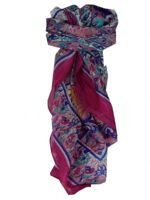 Mulberry Silk Classic Square Scarf Alisha Pink by Pashmina & Silk