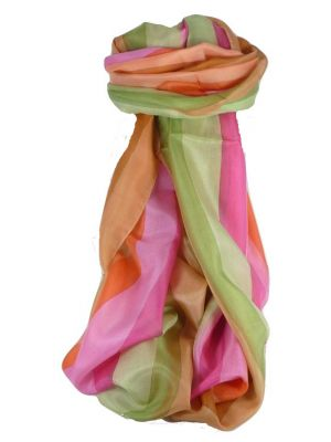 Mulberry Silk Classic Long Scarf Muthu Rainbow Palette by Pashmina & Silk