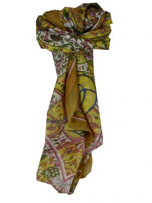 Mulberry Silk Classic Square Scarf Alisha Gold by Pashmina & Silk