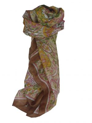 Mulberry Silk Classic Square Scarf Alisha Caramel by Pashmina & Silk