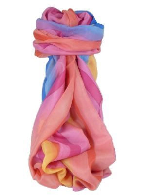 Mulberry Silk Classic Long Scarf Nigam Rainbow Palette by Pashmina & Silk