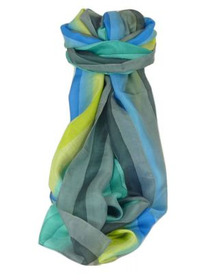 Mulberry Silk Classic Long Scarf Nita Rainbow Palette by Pashmina & Silk