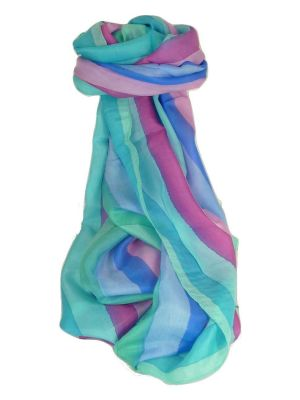 Mulberry Silk Classic Long Scarf Preety Rainbow Palette by Pashmina & Silk