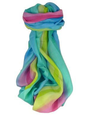 Mulberry Silk Classic Long Scarf Ratra Rainbow Palette by Pashmina & Silk