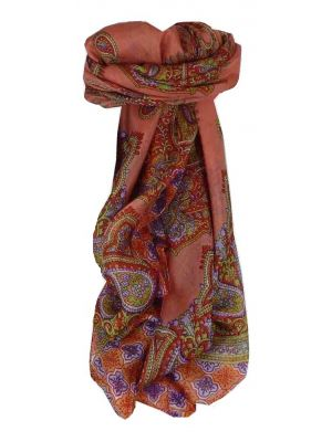 Mulberry Silk Traditional Square Scarf Vashti Rose by Pashmina & Silk