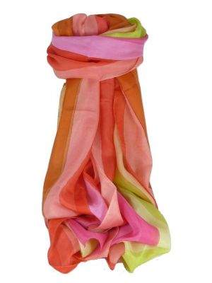 Mulberry Silk Classic Long Scarf Shashtri Rainbow Palette by Pashmina & Silk