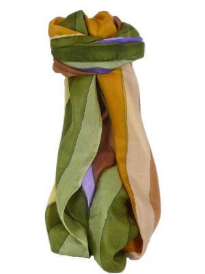 Mulberry Silk Classic Long Scarf Tendulka Rainbow Palette by Pashmina & Silk