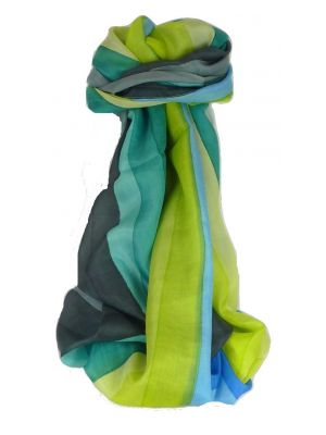 Mulberry Silk Classic Long Scarf Veena Rainbow Palette by Pashmina & Silk