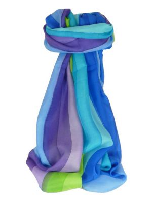 Mulberry Silk Classic Long Scarf Vorah Rainbow Palette by Pashmina & Silk