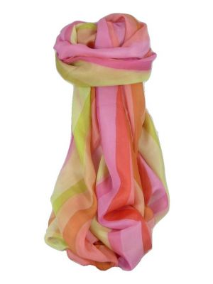 Mulberry Silk Classic Long Scarf Wassan Rainbow Palette by Pashmina & Silk