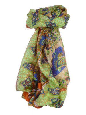 Classic Paisley Long Scarf Mulberry Silk Golla Marigold by Pashmina & Silk