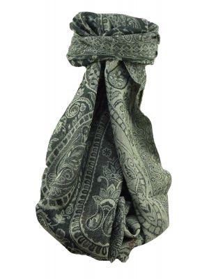 Muffler Scarf 9083 in Fine Pashmina Wool Heritage Range by Pashmina & Silk
