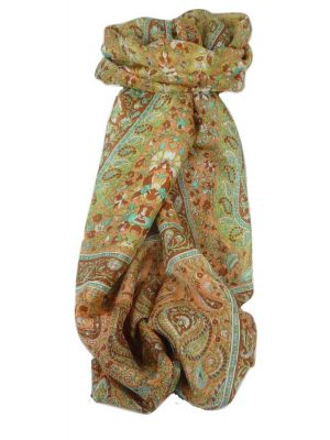 Classic Paisley Long Scarf Mulberry Silk Sehgal Sienna by Pashmina & Silk