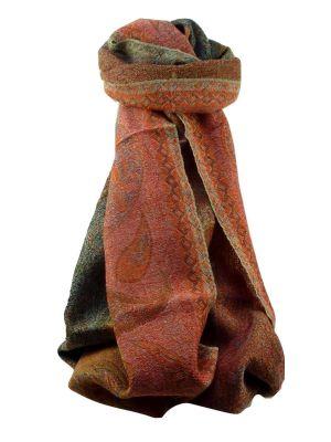Muffler Scarf 9533 in Fine Pashmina Wool Heritage Range by Pashmina & Silk
