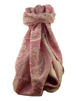 Muffler Scarf 9663 in Fine Pashmina Wool Heritage Range by Pashmina & Silk
