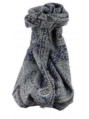 Muffler Scarf 0423 in Fine Pashmina Wool Heritage Range by Pashmina & Silk
