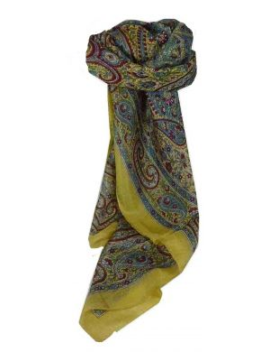 Mulberry Silk Traditional Square Scarf Suya Sand by Pashmina & Silk