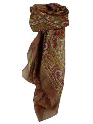 Mulberry Silk Traditional Square Scarf Suya Caramel by Pashmina & Silk