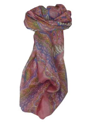 Mulberry Silk Traditional Square Scarf Tara Rose by Pashmina & Silk