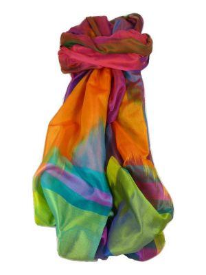 Varanasi Ekal Premium Silk Long Scarf Heritage Range Shan 9 by Pashmina & Silk