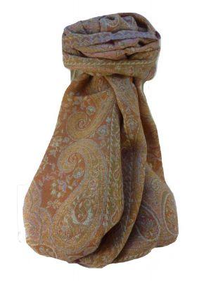 Mulberry Silk Contemporary Long Scarf Jarava Sage by Pashmina & Silk