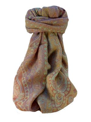 Mulberry Silk Contemporary Long Scarf Jarava Pink by Pashmina & Silk