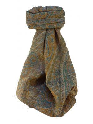Mulberry Silk Contemporary Long Scarf Jarava Aqua by Pashmina & Silk