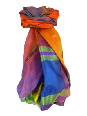 Varanasi Ekal Premium Silk Long Scarf Heritage Range Jai 9 by Pashmina & Silk