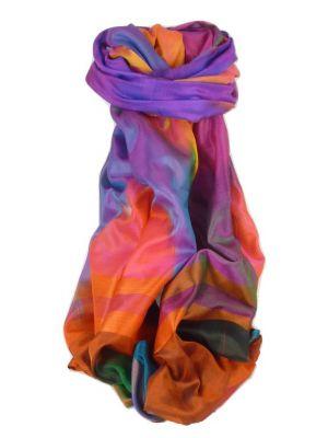 Varanasi Ekal Premium Silk Long Scarf Heritage Range Jindal 9 by Pashmina & Silk