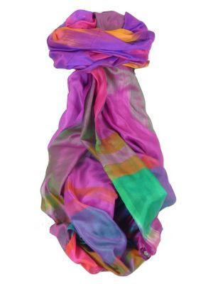 Varanasi Ekal Premium Silk Long Scarf Heritage Range Bera 4 by Pashmina & Silk