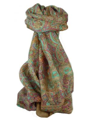 Classic Paisley Long Scarf Mulberry Silk Modi Sienna by Pashmina & Silk