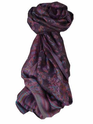Mens Jamawar Premium Silk Scarf Pattern 7099 by Pashmina & Silk