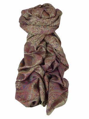 Mens Jamawar Premium Silk Scarf Pattern 7129 by Pashmina & Silk