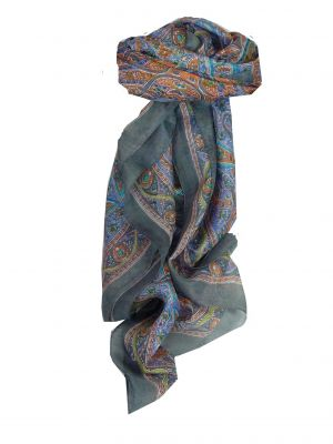 Mulberry Silk Traditional Square Scarf Sami Pearl by Pashmina & Silk