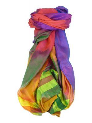 Varanasi Ekal Premium Silk Long Scarf Heritage Range Das 4 by Pashmina & Silk