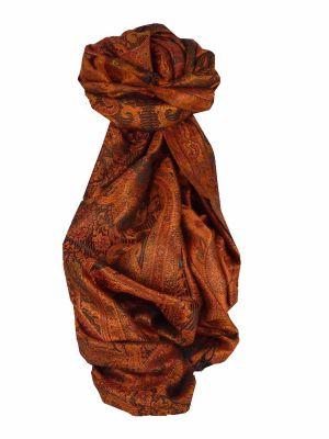 Mens Jamawar Premium Silk Scarf Pattern 7419 by Pashmina & Silk