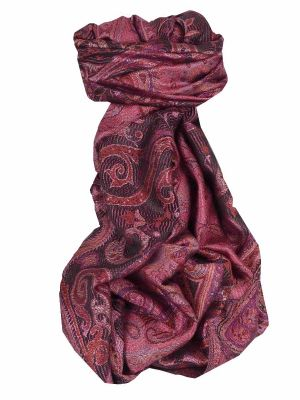 Mens Jamawar Premium Silk Scarf Pattern 7709 by Pashmina & Silk