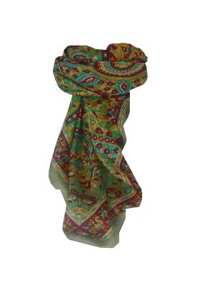 Mulberry Silk Traditional Square Scarf Mahe Grey by Pashmina & Silk