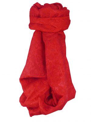 Vietnamese Silk Scarf Reversible Hoi-An Vinh Scarlet by Pashmina & Silk