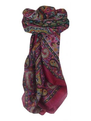 Mulberry Silk Traditional Square Scarf Neela Pink by Pashmina & Silk