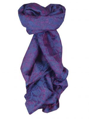 Vietnamese Silk Scarf Reversible Hoi-An Vinh Blue & Pink by Pashmina & Silk