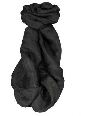 Vietnamese Silk Scarf Reversible Hoi-An Yen-Phu Black by Pashmina & Silk