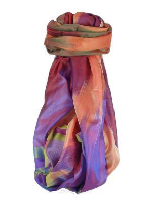 Varanasi Ekal Premium Silk Long Scarf Heritage Range Kurian 8 by Pashmina & Silk
