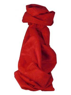 Vietnamese Silk Scarf Reversible Hoi-An Yen-Phu Scarlet by Pashmina & Silk