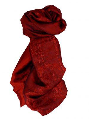 Vietnamese Silk Scarf Reversible Hoi-An Ba-Den Ruby by Pashmina & Silk