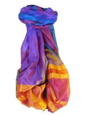Varanasi Ekal Premium Silk Long Scarf Heritage Range Nath 8 by Pashmina & Silk