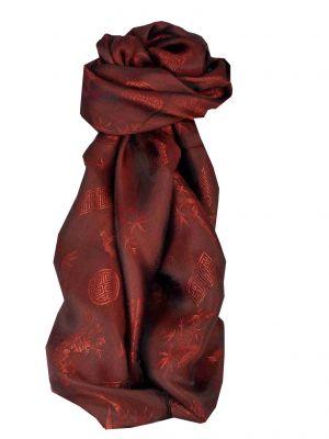 Vietnamese Silk Scarf Reversible Hoi-An Bao-Lok Ruby by Pashmina & Silk