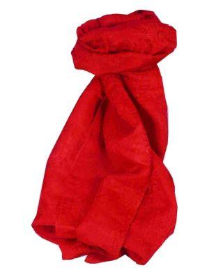 Vietnamese Silk Scarf Reversible Hoi-An Vung-Tau Scarlet by Pashmina & Silk