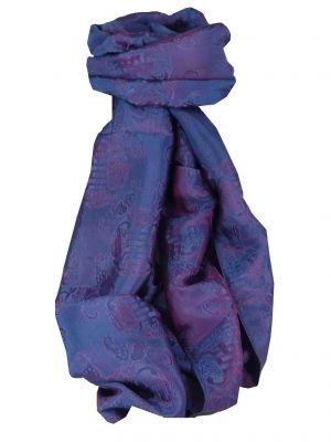 Vietnamese Silk Scarf Reversible Hoi-An Vung-Tau Blue & Pink by Pashmina & Silk