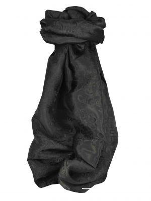 Vietnamese Silk Scarf Reversible Hoi-An Vung-Tau Black by Pashmina & Silk